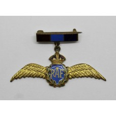 Royal Air Force (R.A.F.) Enamelled Sweetheart Brooch - King's Crown