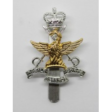 Mobile Defence Corps Anodised (Staybrite) Cap Badge - Queen's Cro