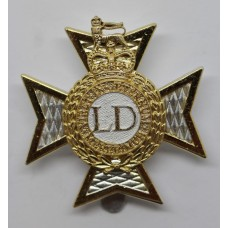 Light Dragoons Anodised (Staybrite) Cap Badge
