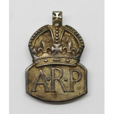 WW2 Air Raid Precautions (A.R.P.) 1938 Hallmarked Silver Lapel Badge