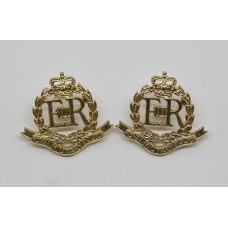 Pair of Royal Military Police (R.M.P.) Anodised (Staybrite) Collar Badges