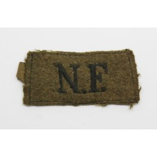 Northumberland Fusiliers (N.F.) Cloth Slip On Shoulder Title