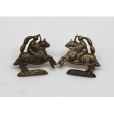 Pair of Fife and Forfar Yeomanry Collar Badges