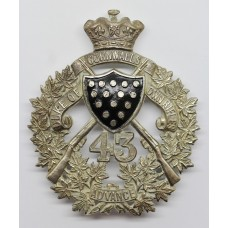 43rd Canadian Regiment of Militia (Duke of Cornwall's Own Rifles) Pouch Badge