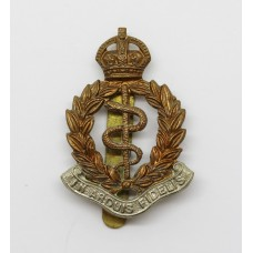 Royal Army Medical Corps (R.A.M.C.) Bi-Metal Cap Badge - King's Crown