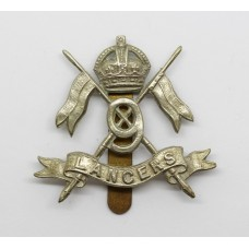 9th Lancers Cap Badge - King's Crown