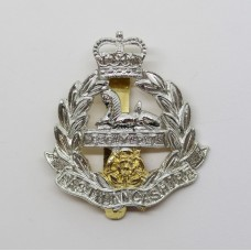 East Lancashire Regiment Anodised (Staybrite) Cap Badge - Queen's