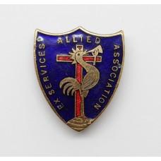 Allied Ex Services' Association Enamelled Lapel Badge