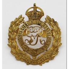 George V Royal Engineers Officer's Dress Cap Badge