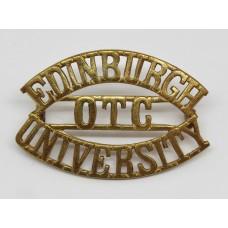 Edinburgh University O.T.C. (EDINBURGH/OTC/UNIVERSITY) Shoulder Title