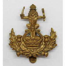 Queen's Own Royal Glasgow Yeomanry Cap Badge - King's Crown