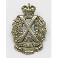 Scottish Horse Yeomanry Cap Badge (White Metal)