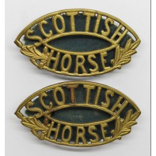 Pair of Scottish Horse Yeomanry (SCOTTISH/HORSE) Shoulder Titles