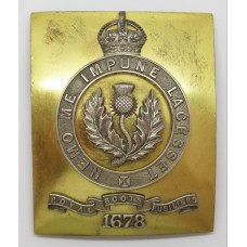 Royal Scots Fusiliers Officer's Shoulder Belt Plate - King's Crown