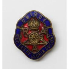Royal Artillery Association Enamelled Lapel Badge - King's Crown