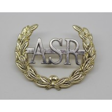 Army Scripture Readers (A.S.R.) Anodised (Staybrite) Cap Badge