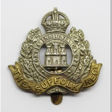 Suffolk Regiment Cap Badge - King's Crown (MB-9544)
