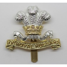10th Royal Hussars Anodised (Staybrite) Cap Badge