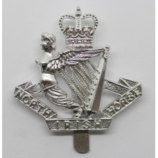 North Irish Horse Anodised (Staybright) Cap Badge - Queen's Crown