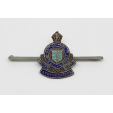Royal Army Ordnance Corps (R.A.O.C.) Enamelled Sweetheart Brooch - King's Crown