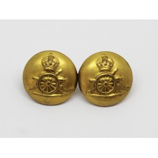 Royal Artillery Button Sweetheart Brooch - King's Crown