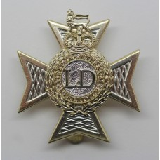 Light Dragoons Anodised (Staybright) Cap Badge