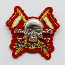 Royal Lancers Officer's Metal & Bullion Beret Badge (Red Backing)