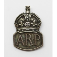 WW2 Air Raid Precautions (A.R.P.) 1936 Hallmarked Silver Lapel Badge