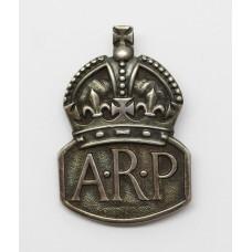 WW2 Air Raid Precautions (A.R.P.) 1936 Hallmarked Silver Lapel Ba