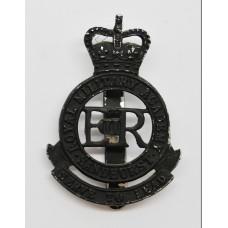 Royal Military Academy Sandhurst Blackened Anodised (Staybrite) Cap Badge