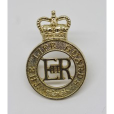 The Life Guards Anodised (Staybrite) Cap Badge - Queen's Crown