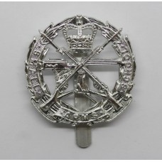 Small Arms School Corps Anodised (Staybrite) Cap Badge
