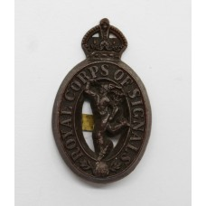 Royal Signals WW2 Plastic Economy Cap Badge