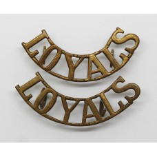 Pair of Loyal North Lancashire Regiment (LOYALS) Shoulder Titles