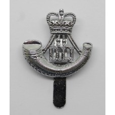 Durham Light Infantry (D.L.I.) Chrome Beret Badge - Queen's Crown