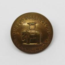 West Riding Regiment (Duke of Wellington's) Officer's Button (Large)