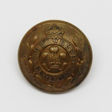 The Welch Regiment Officer's Button - King's Crown (Large)