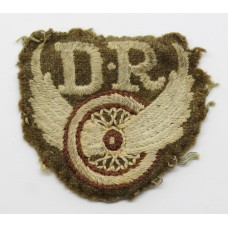WW2 Unofficial Despatch Riders Cloth Arm Badge