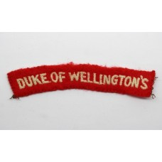 Duke of Wellington's Cloth Shoulder Title