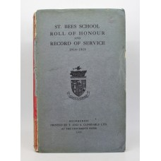 Book - St. Bees School Roll of Honour and Record Of Service 1914-