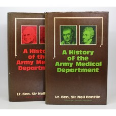 Book - A History of the Army Medical Department (2 Volumes from 1600's to 1898)  by Lt. Gen. Sir Neil Cantlie