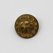 12th Royal Lancers Officer's Button (Small)