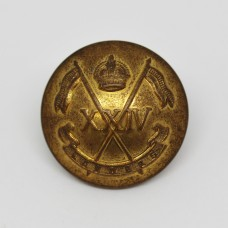 24th Lancers Officer's Button - King's Crown (Large)