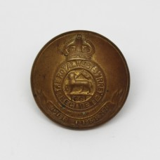 The Queen's (Royal West Surrey) Regiment Officer's Button - King's Crown (Large)