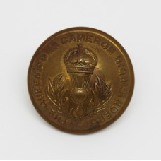 Queen's Own Cameron Highlanders Officer's Button - King's Crown (Large)