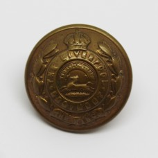 The King's (Liverpool Regiment) Officer's Button - King's Crown (Large)