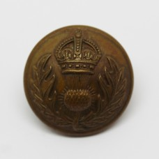 Royal Scots Fusiliers Officer's Button - King's Crown (Large)