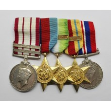 Naval General Service Medal (Clasps - Palestine 1936-1939, Palestine 1945-48) and WW2 Group of Five - W.C. Harris, Ord. Smn. Royal Navy
