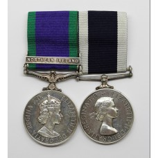 Campaign Service Medal (Clasp - Northern Ireland) and Royal Naval Long Service & Good Conduct Medal - L.E.M. K.P. Davies, Royal Navy