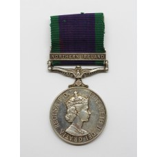 Campaign Service Medal (Clasp - Northern Ireland) - G.P. Grout, N.A.M.1., Royal Navy